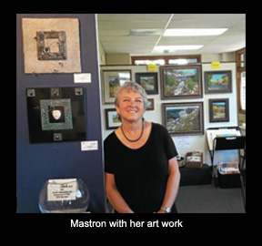 Mastron with her artwork