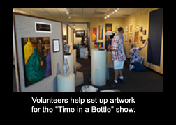 Volunteers at      'Time in a Bottle' Show